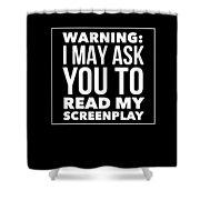 Aspiring Writer Gift Shower Curtain