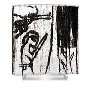 Assassin After Mikhail Larionov Black Oil Painting 10 Shower Curtain