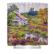 Aster Time Shower Curtain