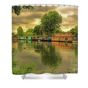At Home On The River Shower Curtain