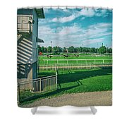 At The Racetracks #2 Shower Curtain