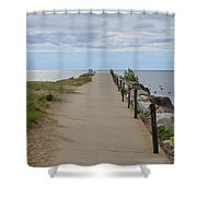 At Water's Edge Shower Curtain by Kim Hojnacki