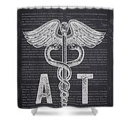 Athletic Trainer Gift Idea With Caduceus Illustration 02 Shower Curtain