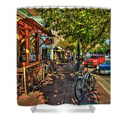 College Town Athens Georgia Downtown Uga Athens Georgia Art Shower Curtain