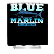 Atlantic Blue Marlin Makaira Nigricans Shower Curtain