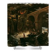 Attack By Pirates Shower Curtain