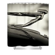 1936 Auburn 851 Sc Boattail Speedsterdster Hood Ornament Shower Curtain