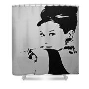 Audrey B W Shower Curtain