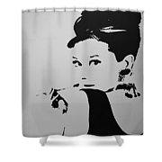 Audrey B W Shower Curtain