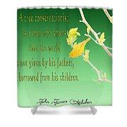 Audubon Warbler Quote Shower Curtain