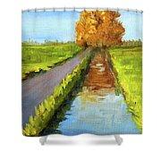 August Landscape Shower Curtain