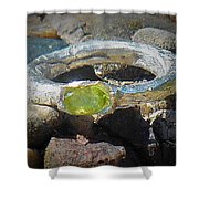 August Ring Shower Curtain