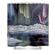 Aurora Borealis Shower Curtain by Deleas Kilgore