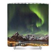 Aurora In Lofoten Shower Curtain