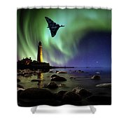Auroral Splendour For The Vulcan Shower Curtain