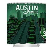 Austin Traffic Shower Curtain