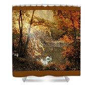 Autumn Afterglow Shower Curtain
