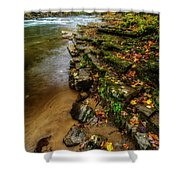 Autumn At Cherry Falls Elk River Shower Curtain