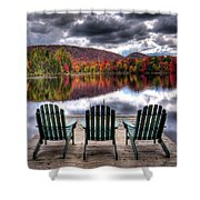 Autumn At The Lake Shower Curtain