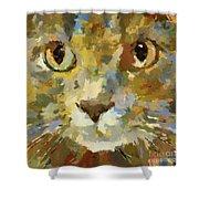 Autumn Cat Shower Curtain