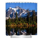 Autumn Colors With Mount Shuksan Shower Curtain