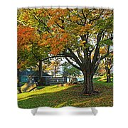 Autumn Day In The Salem Willows Salem Ma Red Shower Curtain