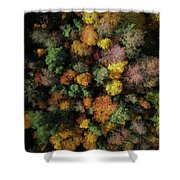 Autumn Forest - Aerial Photography Shower Curtain