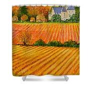 Autumn In French Vineyards Shower Curtain