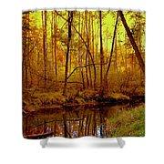 Autumn - Krasna River Shower Curtain