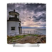 Autumn Morning At Owls Head Shower Curtain
