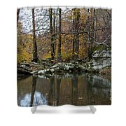 Autumn On The Kings River Shower Curtain