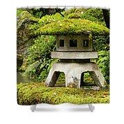 Autumn, Pagoda, Japanese Garden Shower Curtain
