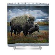 Autumn Plains Bison Shower Curtain