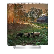Autumn Sunset At The Old Farm Shower Curtain