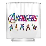 Avengers Team Shower Curtain