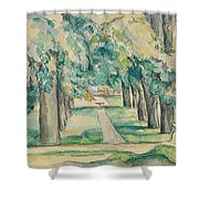 Avenue Of Chestnut Trees At The Jas De Bouffan  Shower Curtain
