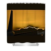 Aviation Sunset Shower Curtain