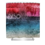 Awakened 4-  Abstract Art By Linda Woods Shower Curtain