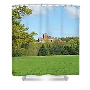 Ayton Castle From South, Berwickshire Shower Curtain