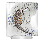 B Is For Blue Tongue Lizard Shower Curtain