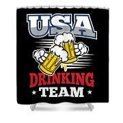 Bachelor Party Usa Drinking Team Beer Party Cheers Gift Shower Curtain