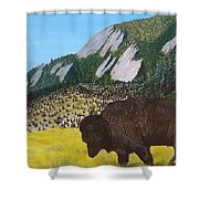 Back From The Brink Shower Curtain by Kevin Daly