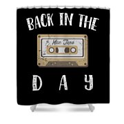 Back In The Day 80s Cassette Funny Old Mix Tape Shower Curtain