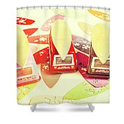 Back To The Beach Shower Curtain