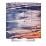 Back To The Sky Shower Curtain