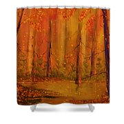Back Woods Shower Curtain