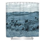 Badlands Cloud Shadows Shower Curtain