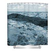 Badlands Shadow Grandeur Shower Curtain
