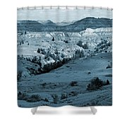 Badlands Shadows And Sunlight Shower Curtain