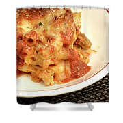 Baked Ziti Serving 2 Shower Curtain